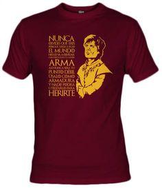 Camiseta de Tyrion Lannister de la serie de tv Juego de Tronos.