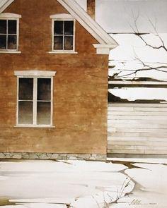 "2010, Watercolor House by Joseph Alleman Watercolor ~ 20"" x 16"""