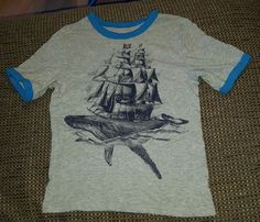 Baby Gap boys 5T gray blue ringer t-shirt whale pirate ship | Clothing, Shoes & Accessories, Baby & Toddler Clothing, Boys' Clothing (Newborn-5T) | eBay!