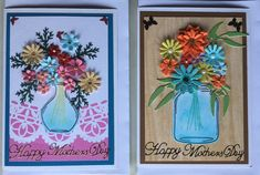 Mother's Day greeting cards, flowers