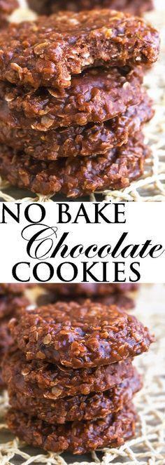 Classic No Bake Cookies Recipe via @cakewhiz