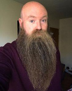 Randy, @randyforsman Long Beard Styles, Beard Styles For Men, Bald With Beard, Bald Men, Grey Beards, Long Beards, Beard Boy, Beard No Mustache, Epic Beard