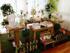 imagem de festa infantil com decoração Jardim provençal - Pesquisa Google