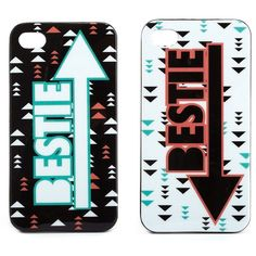 Best Friends Phone Case, 2-Pack ($0.99) ❤ liked on Polyvore featuring accessories, tech accessories, phone cases, phone, iphone cases, iphone, multi, iphone cover case, iphone case and apple iphone cases