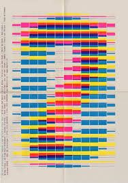 """Another in similar color that creates the clinical """"observation"""" Although the question in this is interest. This feels like a gas chromograph result and not a film festival poster. Inserting imagery from the film into the blocks would make this piece stronger. film festival program graphic design - Google Search"""