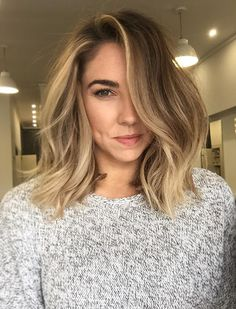 ♥️ Pinterest: DEBORAHPRAHA ♥️ long bob and highlights #blonde #hair #color