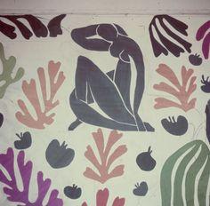 walls of Matisse's studio at the Hôtel Régina, Nice