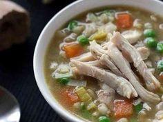 自家製ストック☆鶏とポロネギの大麦スープの画像
