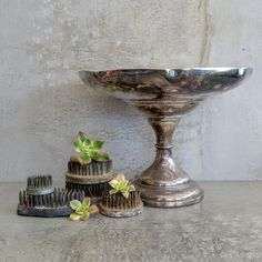 Vintage EPNS A1 Silver Plated Pedestal Dish by Imperial, A Phoenix Product. Made in Melbourne Australia.