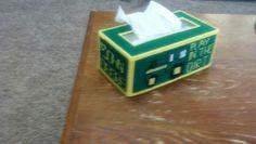 John Deere tractor plastic canvas tissue box cover