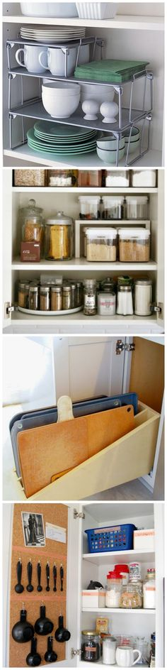 New kitchen cabinets organization storage tips 30 Ideas Kitchen Cabinet Organization, Kitchen Storage, Home Organization, Kitchen Cabinets, Storage Organization, Diy Cupboards, Kitchen Shelves, Storage Cabinets, Home Organizer Ideas