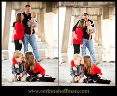 Cute kissing family photo on the beach www.corinnahoffman.com