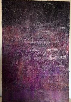 "Lynda Bleyberg. 'Purple Rain'. Mixed media. 30"" by 20"" on box canvas. For Sale £550 including shipping Email: lyndableybergart.co.uk"