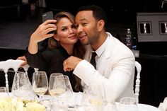 FLORENCE, ITALY - SEPTEMBER 05:  Chrissy Teigen and John Legend attend the White Party Dinner Hosted by Andrea and Veronica Bocelli Celebrating Celebrity Fight Night In Italy Benefitting The Andrea Bocelli Foundation and The Muhammad Ali Parkinson Center on September 5, 2014 at the Bocelli Residence in Forte dei Marme, Italy.  (Photo by Andrew Goodman/Getty Images for Celebrity Fight Night) via @AOL_Lifestyle Read more…
