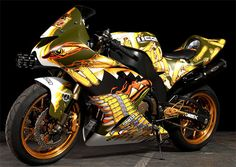 Cool Car Paint Designs | Sport Motorcycle Full Body Paint Airbrush | Car Modification 2011