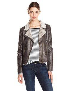 Fillmore Women's Faux Shearling Moto Jacket