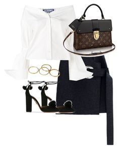 """""""Untitled #3538"""" by theeuropeancloset on Polyvore featuring Jacquemus and Aquazzura"""