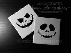 Nightmare Before Christmas Jack Coasters by ericaiscreative
