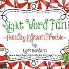 This pack contains 72 dolch sight word cards in an adorable holiday theme, along with 4 engaging activities to help your littles practice reading, ...