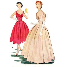 b91e55b532ec 1950s Style Shelf Bust Dress with Pleated by SewVintageSeamstress Skirt  Patterns Sewing, Vintage Sewing Patterns