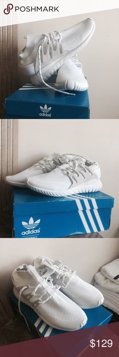 ADIDAS TUBULAR NOVA PK Brand new Adidas original tubular nova PK size 11 triple white. Adidas Shoes Sneakers