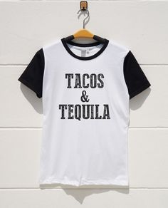 S M L XL  Tacos and Tequila Tshirts Hipster Tshirts by monopoko