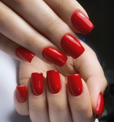 #red #rednails #nails Classic Nails, Red Nails, Passion, Red Toenails, Red Nail