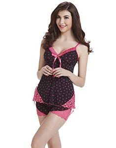 f888ef3be0 I VVEEL Womens Sleepwear Pajama Cami Set Sexy Nightwear at Amazon Women s  Clothing store  Sleepwear