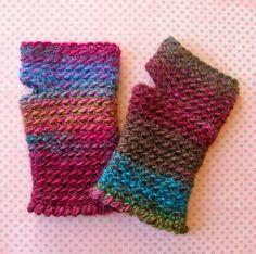 Labores en Red: 2043.- Crochet complementos: mitones