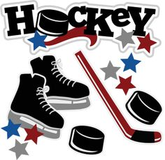 For our Camp Runoia hockey girls! Hockey Birthday, Hockey Party, Hockey Room, Hockey Teams, Hockey Players, Scrapbooking Layouts, Digital Scrapbooking, Hockey Crafts, Cute Clipart