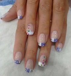 Uñas Smart Nails, Fun Nails, Pretty Nails, Lily Nails, Nail Art Photos, Butterfly Nail Art, Nail Polish Art, Short Nails Art, Nail Art Videos