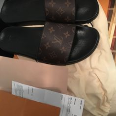356a2f393 Shop Men s Louis Vuitton Brown size 13 Sandals   Flip-Flops at a discounted  price at Poshmark.