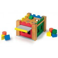 Hrad na vkladanie a triedenie tvarov Nintendo 64, Wooden Toys, Games, Toys, Wood, Shape, Wooden Toy Plans, Wood Toys, Woodworking Toys