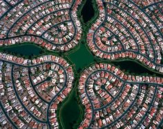 Aerial Picture of a Suburban neighborhood