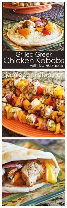 My greek traditional cook book 1 a simple greek cuisine anna grilled greek chicken kabobs with tzatziki sauce from jamie cooks it up forumfinder Choice Image