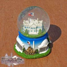 DC Gift Shop | Decorative | The White House Musical Snow Globe
