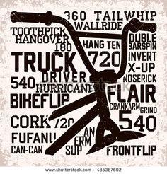 Vintage Graphic Design Creative vintage t-shirt graphic design, grange print stamp, bmx freestyle typography emblem, sports logo, Vector - Mtb, Indoor Bike Rack, Vintage T Shirts, Mountain Biking Quotes, Bmx Street, Bike Logo, Bike Quotes, Bike Photography, Bmx Freestyle