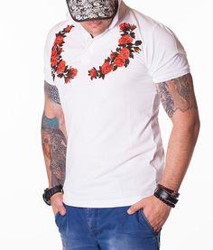Gucci Tricouri Polo - Wreath tricou polo alb