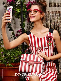 Advertising campaign women's opticals Summer 2016 | Eyewear Dolce & Gabbana