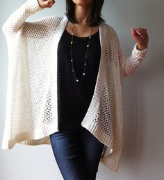 Ravelry: Angela - easy trendy cardigan (crochet) by Vicky Chan