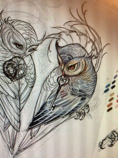 Owl Tattoo Tatuaje de Buho