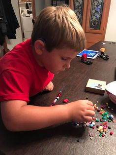 Super Connor took his time to create bracelets for others in order to spread Joy for the July Mission! Learn how your child can receive missions and earn new badges for their cape every month! https://tinysuperheroes.com/missions/