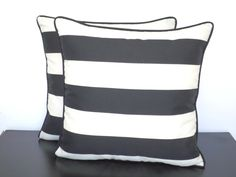 Add a little pattern to your look with some stylish black and white stripes.