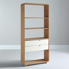 Buy Ebbe Gehl for John Lewis Mira 2 Drawer Bookcase, Wide Online at johnlewis.com