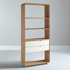 Buy Ebbe Gehl for John Lewis Mira 2 Drawer Bookcase, Wide Online at johnlewis.com H182 w82 D30