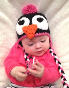 1210ea27382 CROCHET GIRL PENGUIN BABY HAT infant toddler child adult beanie cap photo  prop  fashion  clothing  shoes  accessories  babytoddlerclothing   babyaccessories ...