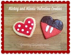 These Mickey and Minnie Valentine cookies are adorable!