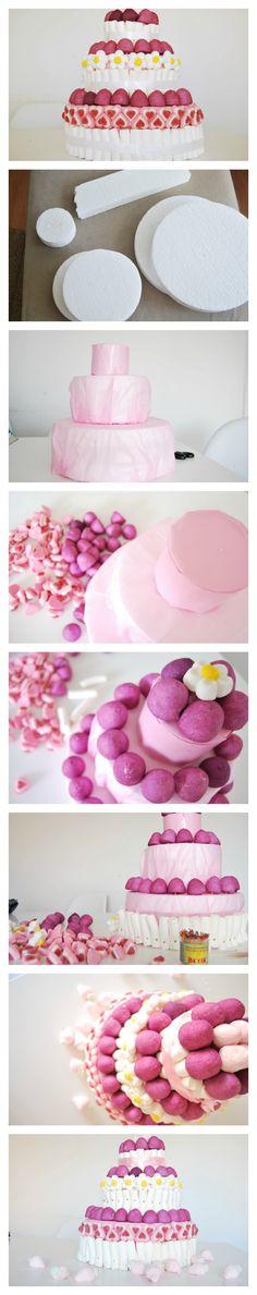 DIY weadding candy cake. Tutorial de tarta de chuches para boda