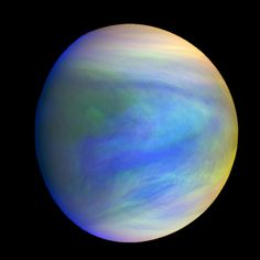 Why Does Venus Spin So Weirdly? A composite image of Venus as seen by Japan's Akatsuki spacecraft. Venus' spin varies because of atmospheric waves over the planet's mountains, according to a new study. Hubble Space Telescope, Space And Astronomy, Albedo, Akatsuki, Arte Do Sistema Solar, Cosmos, Planeta Venus, Venus Images, Planets And Moons