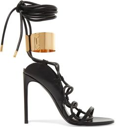Tom Ford Strappy Leather Ankle-Cuff 105mm Sandals